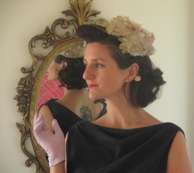 """""""My make of Butterick 7653, my nana's fascinator, and gloves."""""""