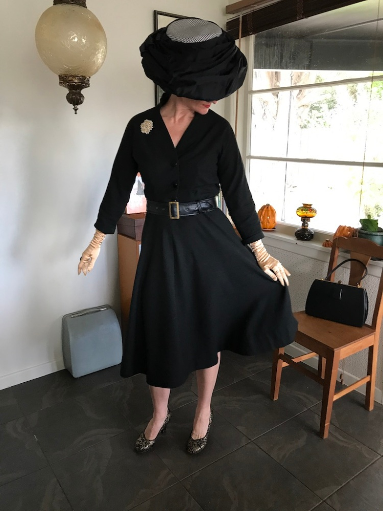 McCalls black dress skirt copy