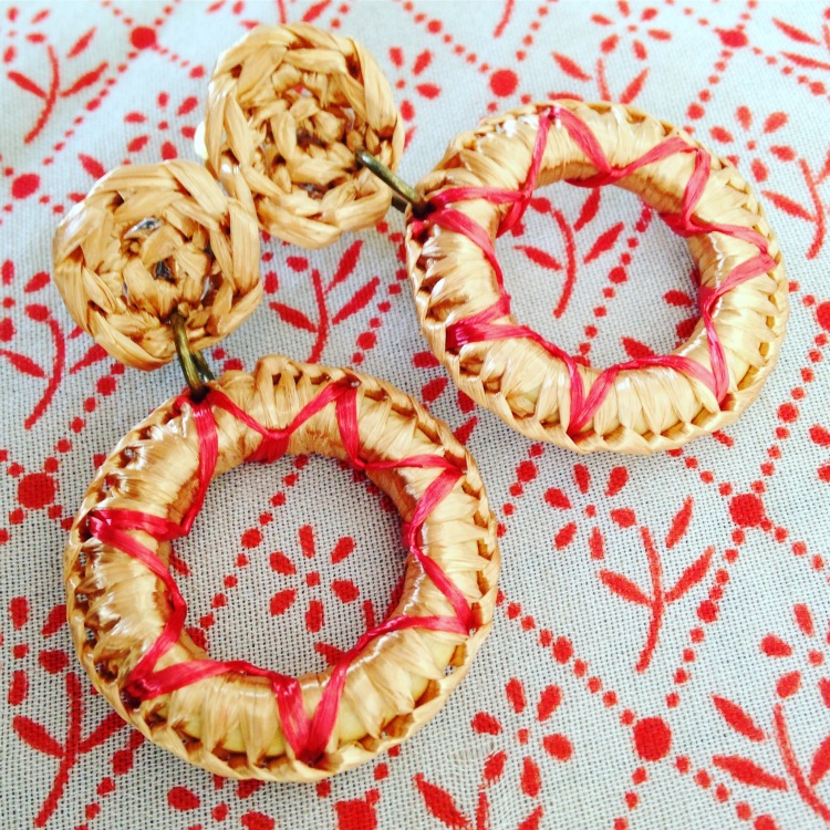 Fiesta Earrings Red and Gold