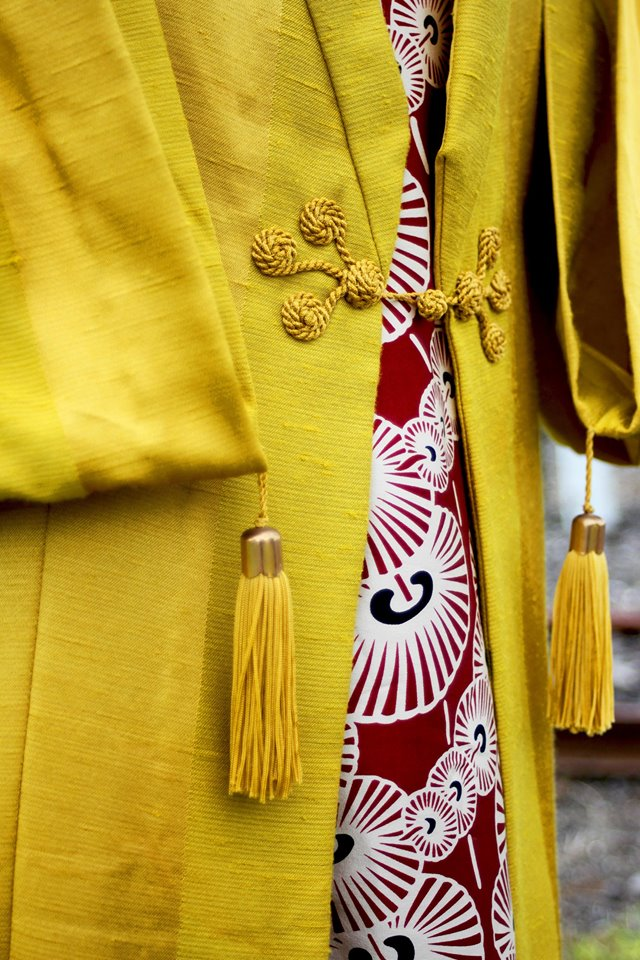 Photo cred Stuart Attwood finished kimono showing handmade detail