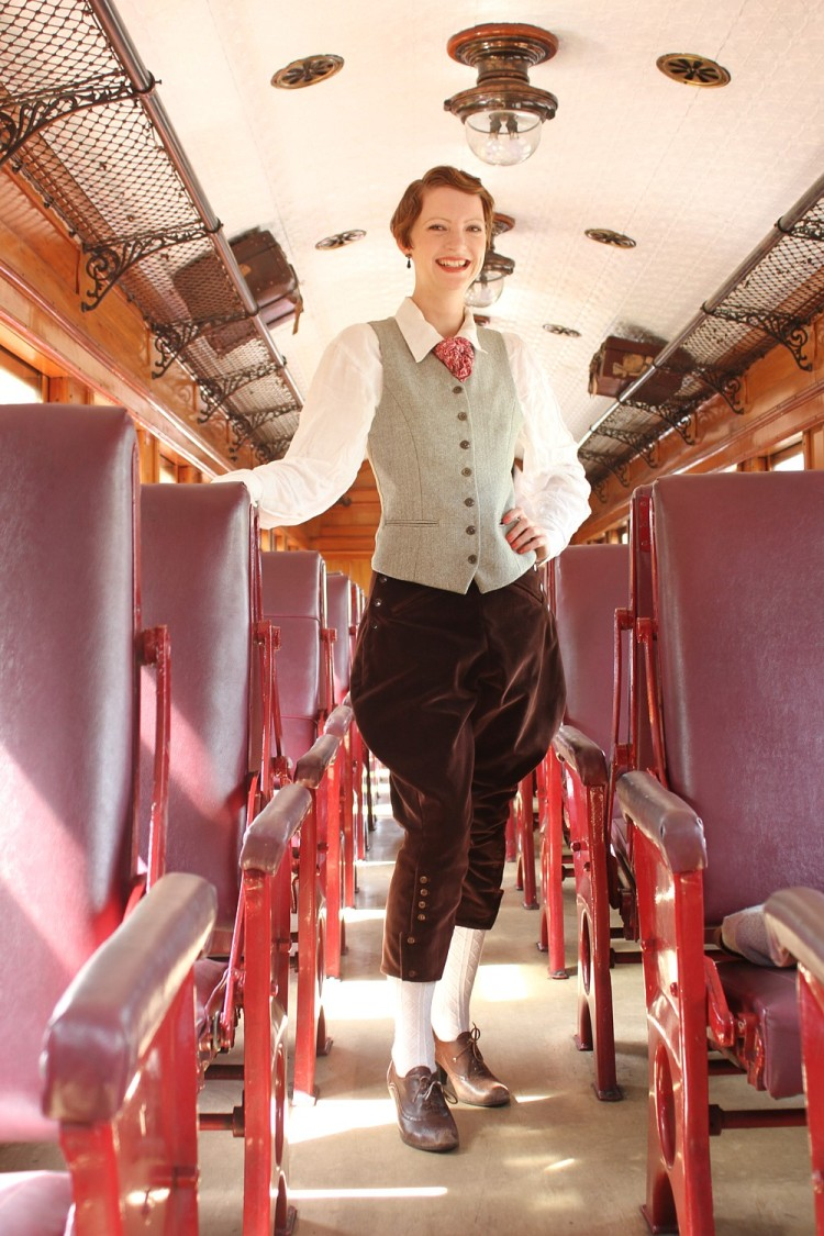 Photo Cred Stuart Atwood. Breeches and waistcoat (not a dress!)
