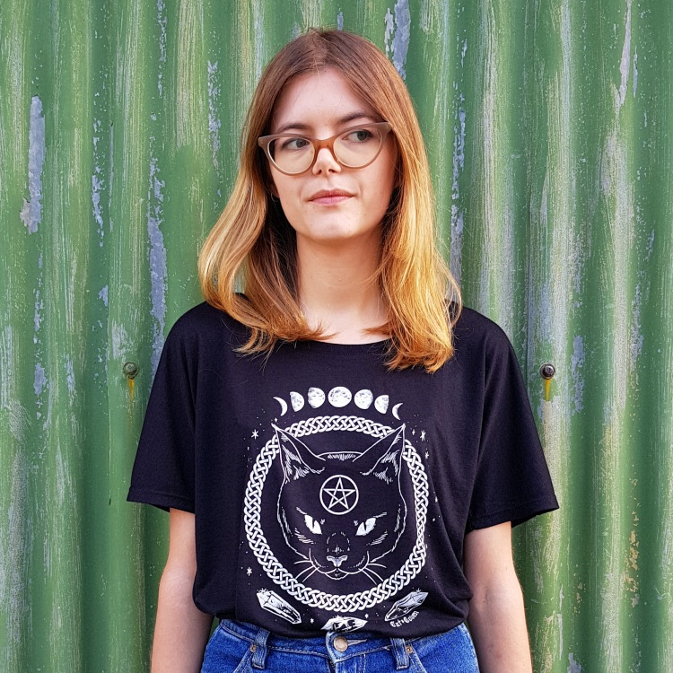 Cat Coven Magickal Protection Slouchy T-shirt