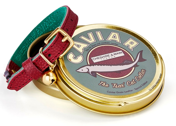 Cheshire & Wain 'Tsar' Leather Collar - Burgandy