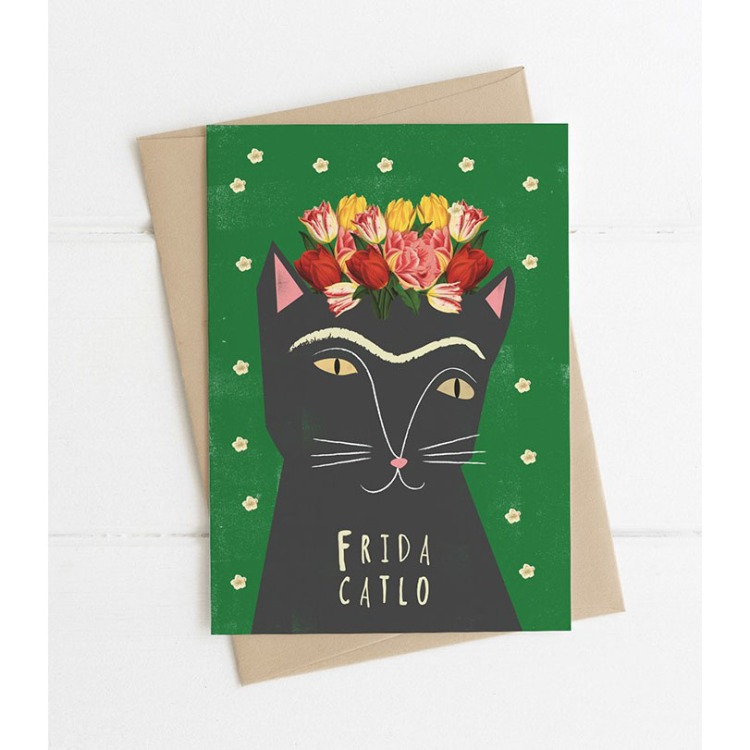 Frida Catlo Greeting Card